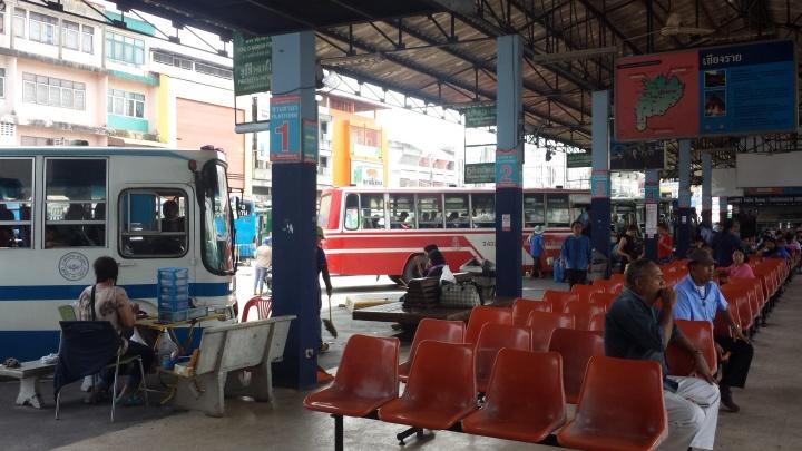 The bus terminal.