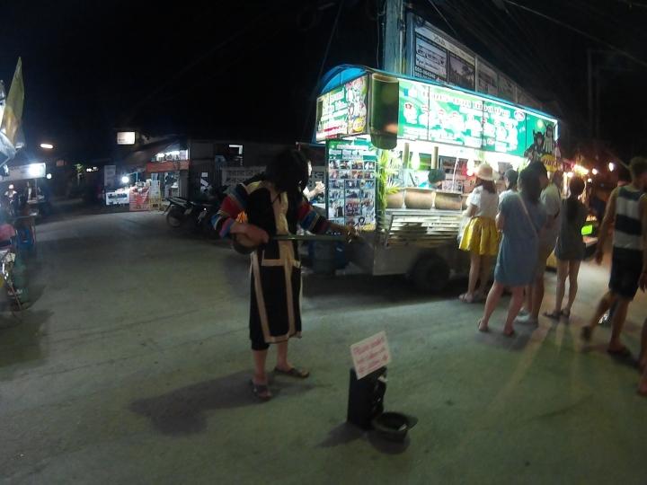 Night market performance.