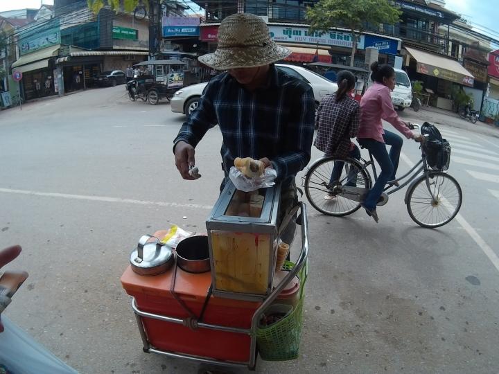 Ice cream man! It's similar to Singapore's - bread with ice cream.