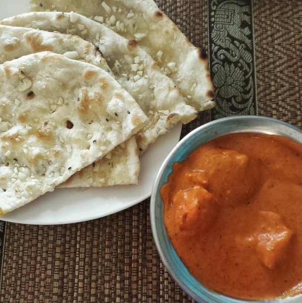 The Butter Chicken and Garlic Naan! (!!!)