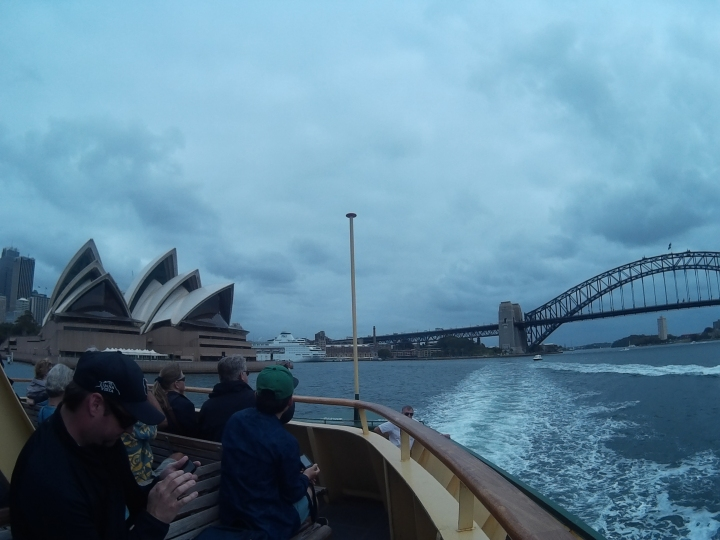 Took a ferry from Circular Quay to Manly Beach (~40mins). Had a really good view of the Sydney Opera House and the Sydney Harbour Bridge.