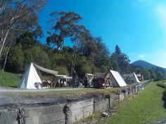 Pretty layout with authentic tents the vikings use and sleep in.
