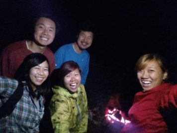 The struggle is real: trying to take photos in the dark with the aid of torchlights.