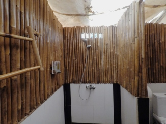 The attached bathroom.